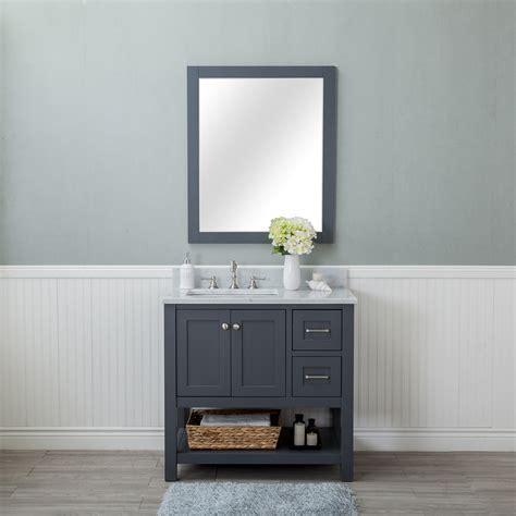 Alya Bath Wilmington 36 in. Single Bathroom Vanity in Gray