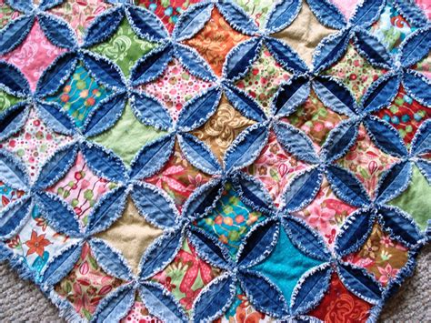 Denim Rag Quilt Pattern by A Quilter Progress On New Pattern