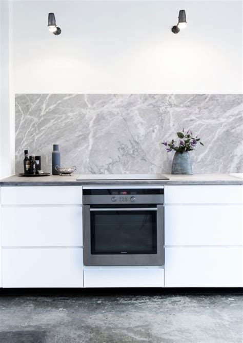 KitchenWalls Wallpaper Splashback  Marble