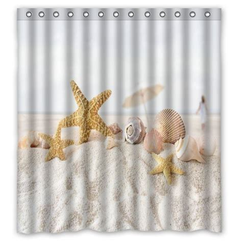 shell shower curtains unique and generic star fish sea shell beach shower