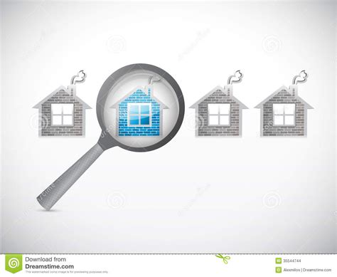looking for houses looking for a house magnify illustration stock illustration image 35544744