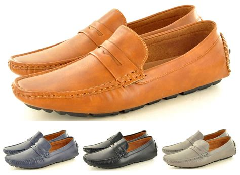 loafers for uk s leather look casual loafers moccasins slip on