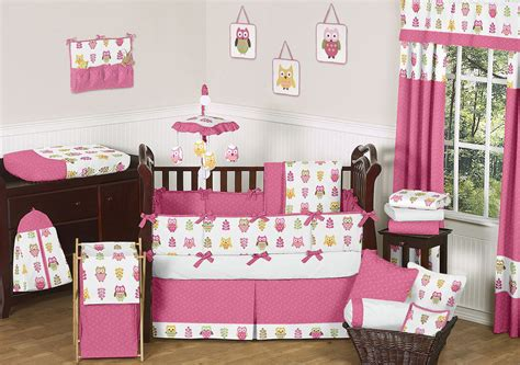 Owl Themed Crib Bedding Sets Pink Owl Baby Bedding Set 9pc Owl Nursery Crib Collection