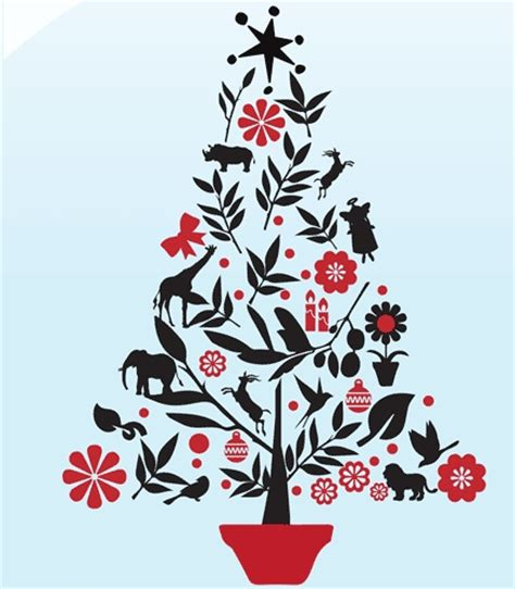 Wall Stickers South Africa african christmas tree vinyl stickers