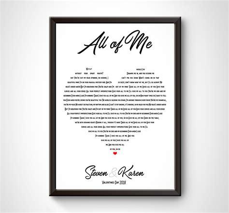 printable lyrics john legend all of me personalised heart shaped music lyrics print john legend