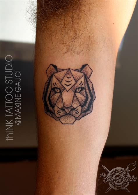 geometric tiger tattoo maxine gauci certified artist