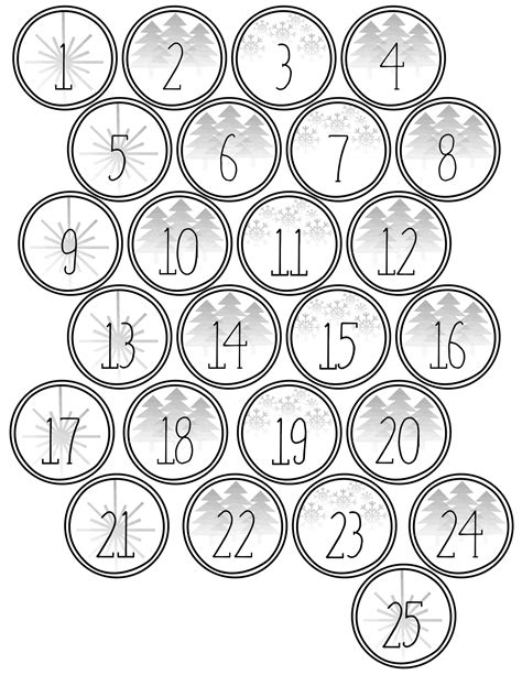 free printable advent calendar template advent calendar printable numbers paper trail