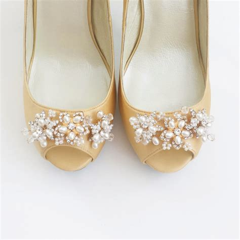 Gold Wedding Pumps by Gold Bridal Wedding Shoes Pumps With Handmade