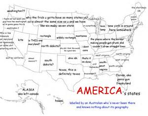 Us Map Labeled America As Labeled By An Australian Funny