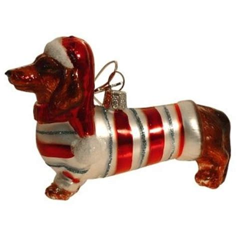 dachshund christmas ornament doxies pinterest