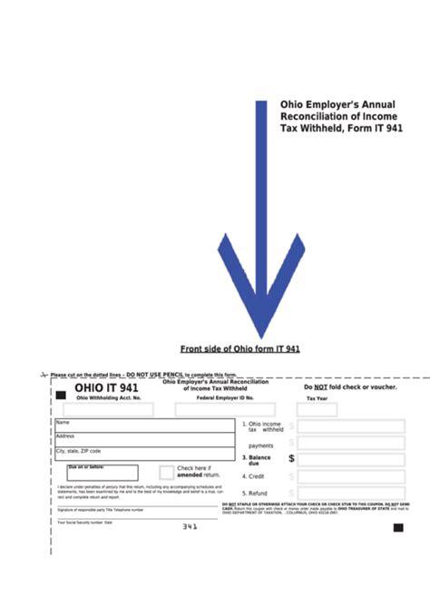fillable ohio form   ohio employers annual reconciliation  income tax withheld
