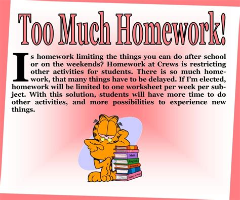 Essay On Why There Should Be Less Homework by Less Homework Voteforphilena