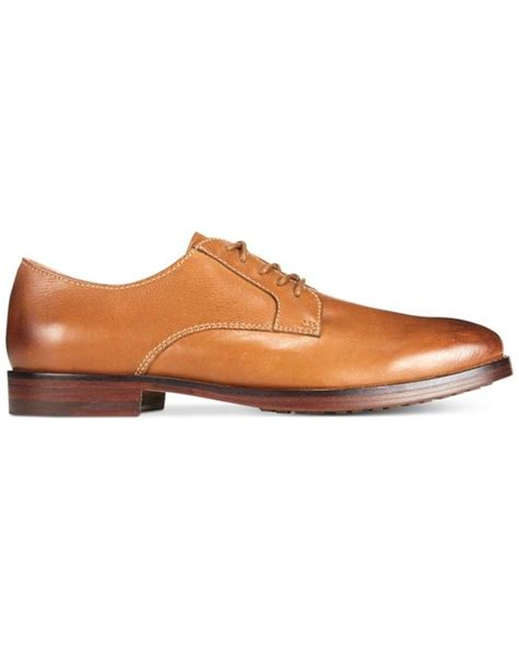 polo ralph domenick dress shoe in brown for