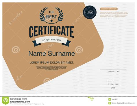 certificate template size certificate frame design template layout template in a4