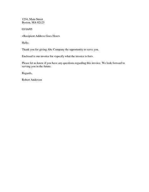 Business Invoice Letter Format invoice cover letter invoice template ideas