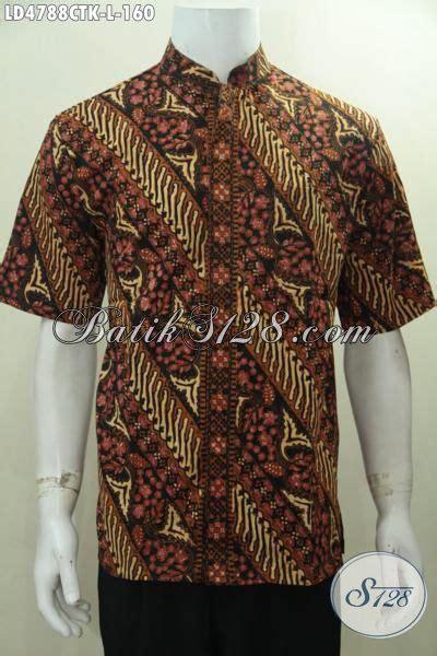 desain jahit baju batik baju batik klasik parang bunga desain kerah shanghai