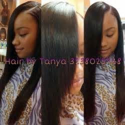 partial sew ins on hair laid side part sew in by tanya beautiful hair pinterest