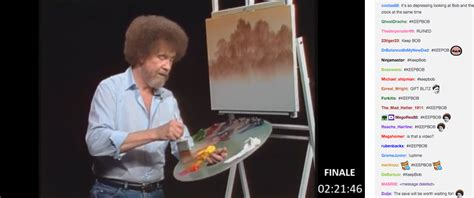 bob ross painting twitch the bob ross twitch phenomenon supposedly ends tonight