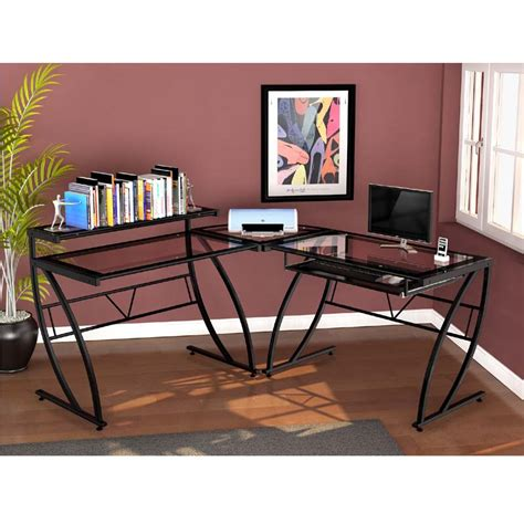 Z Line Corner Desk Z Line Designs Feliz L Shaped Corner Desk Black Zl1441 2du