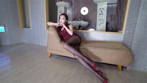 jenna jameson black sofa mini dress video stock footage
