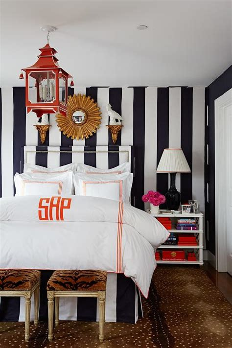black white orange bedroom black and white bedroom with orange pagoda lantern