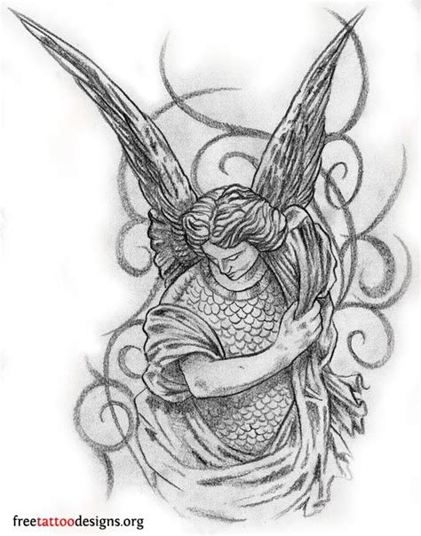 guardian angel wings tattoo designs sparrow stencils and on