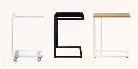 C Shaped Table For Sofa C Shaped Table For Sofa Slide In Side Table Arm