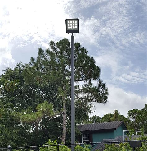 led recreational tennis court lights poles mounts