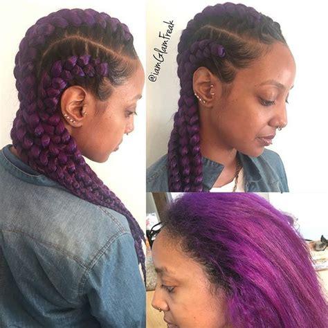 Two Braids Purple Goddess | instagram analytics follow me goddesses and braids