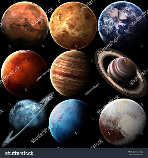 high quality solar systems high quality solar system planets elements stock photo