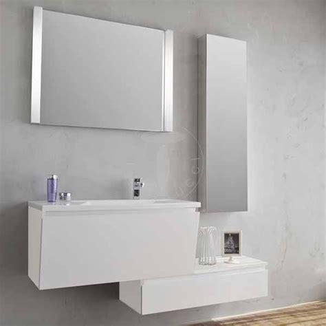 mobile bagno componibile mobile bagno 100 cm vk 1000 bianco laccato lucido componibile