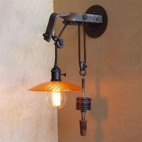 bathroom light pulley telegraph pole bracket pulley light sconce edison bulb 8