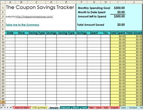 coupon list template 25 best ideas about coupon spreadsheet on