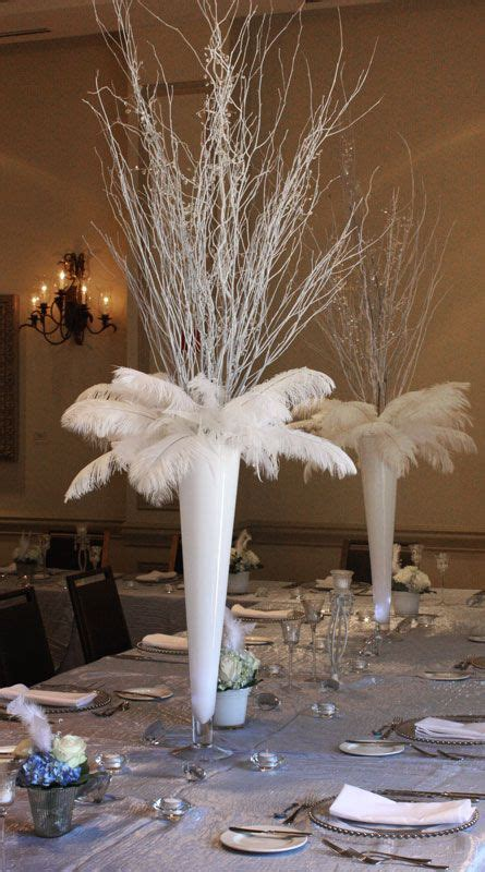 best 25 feather centerpieces ideas on