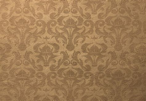 Light Brown Pattern Wallpaper | light brown leather texture with damask pattern