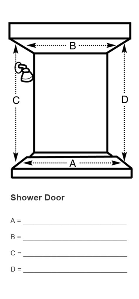 measure template measuring shower doors and glass railings