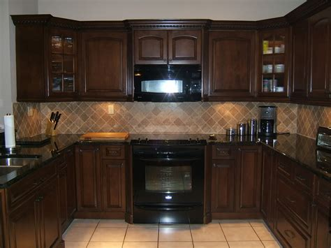 Kitchen : Kitchen Color Ideas With Oak Cabinets And Black