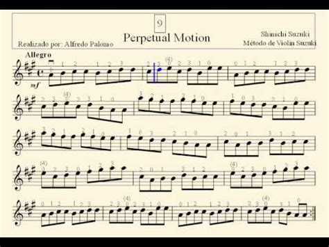 Suzuki Violin Book 1 Perpetual Motion Partitura Perpetual Motion N 186 9 M 233 Todo De Violin Suzuki
