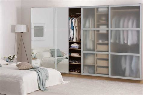 Frosted Glass Sliding Wardrobe Doors by White Glass Closet Doors Pilotproject Org