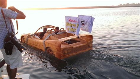 like a boat out of the blue check it out ripley s wooden ferrari looks like a car