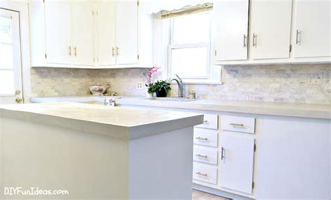 Ideas For White Kitchen Cabinets how to make diy cast in place white concrete countertops
