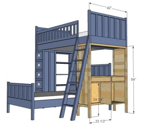 Bunk Bed With Desk On Bottom 112 Best Images About Kid Bedroom Ideas On Loft Beds Loft Bed Plans And Bunk