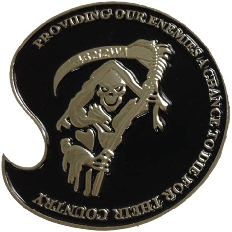 air challenge coin weapons reaper