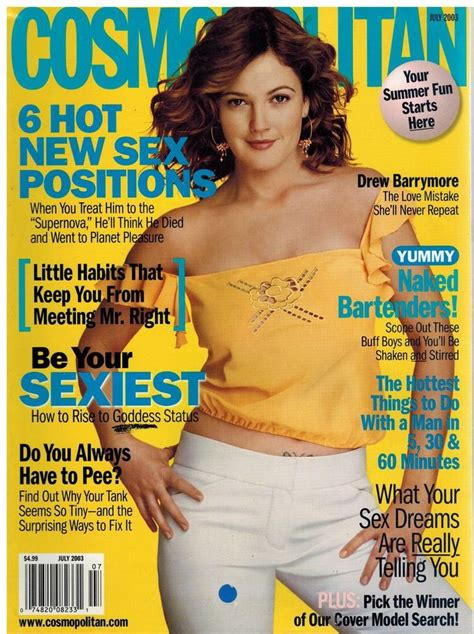 Drew Barrymore On March Cover Of by 17 Best Images About Favorite Cosmo Covers 1970 S Present