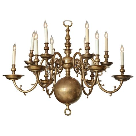 Chandelier Single Brass Twelve Light Chandelier At 1stdibs
