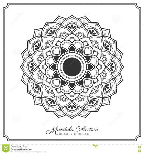 mandala tattoo template mandala tattoo design template illustration de vecteur