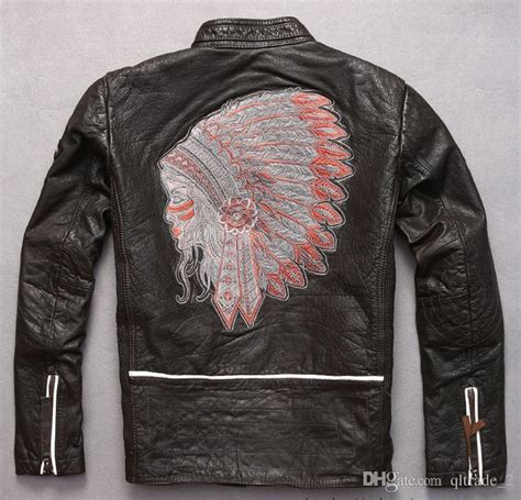 Jaket Zipper Hoodie Sweater Indian Motorcycle Abu 1 indian embroidery back marbobo classic motorcycle leather jackets 100 genuine leather