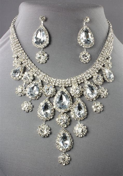 how to make rhinestone jewelry rhinestone necklace drop style clear silver 105551cl