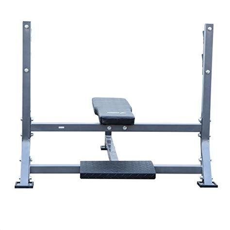 bench press spotter stand akonza olympic bench press with spotter stand fitness