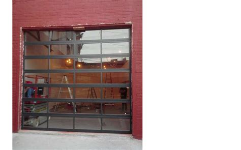 glass roll up garage doors glasscommercial view aluminum clear glass